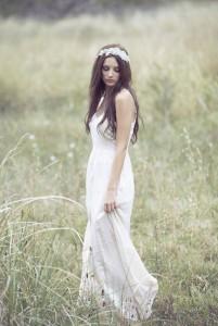 невеста в длинном платье