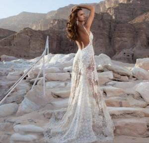 свадебное платье с прозрачной юбкой