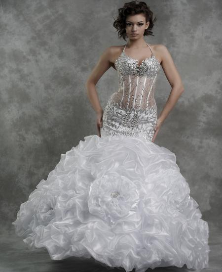 Свадебные платья фото с корсетом прозрачным