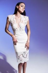свадебное платье с прозрачными вставками