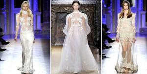 прозрачное свадебное платье
