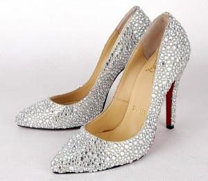 свадебные туфли со стразами