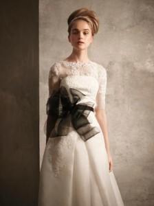 чёрно-белое свадебное платье